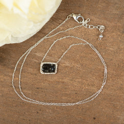 Black Diamond Sterling Silver Necklace