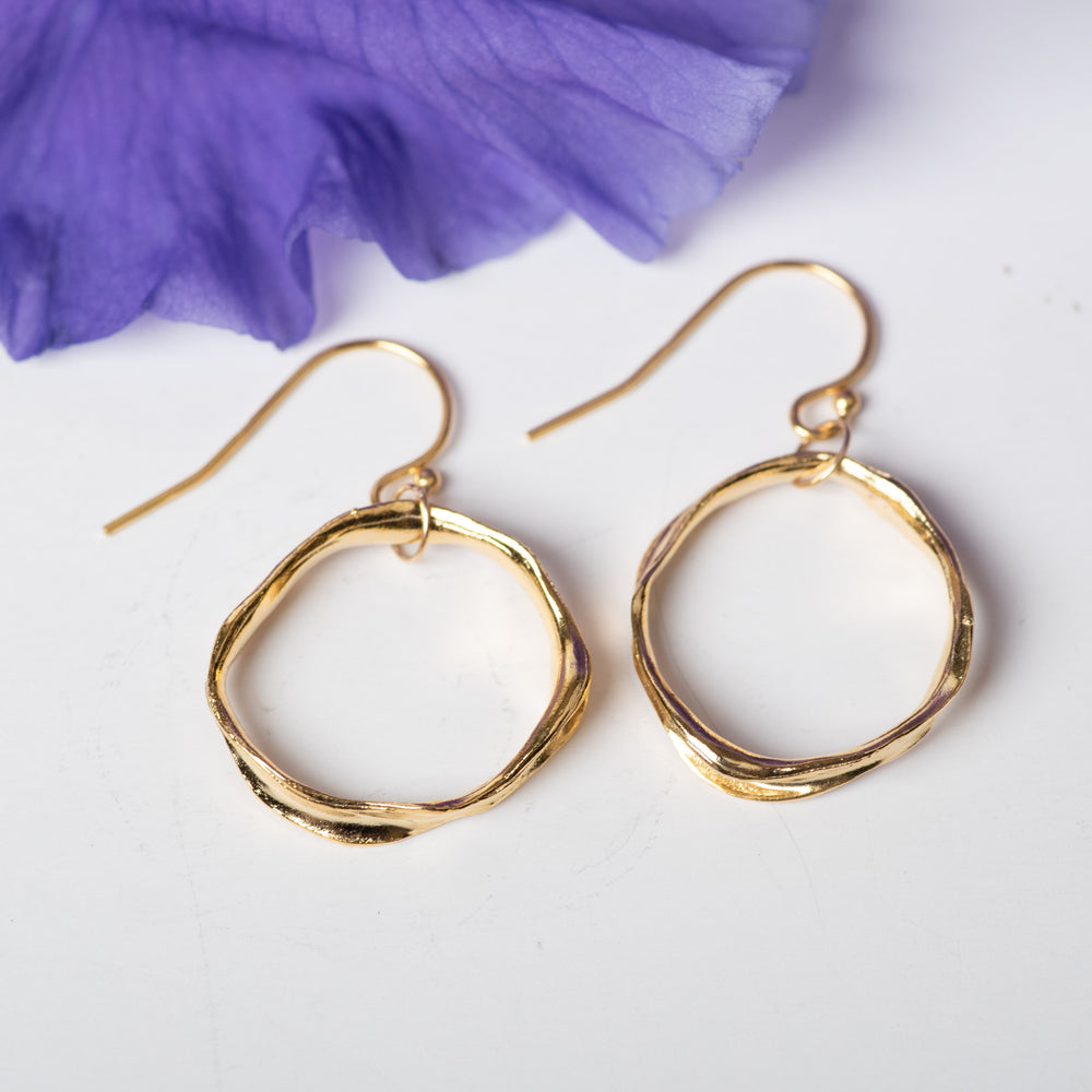 Essential Vermeil Circle Earrings