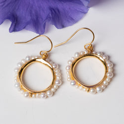 Freshwater Pearl Vermeil Pod Earrings