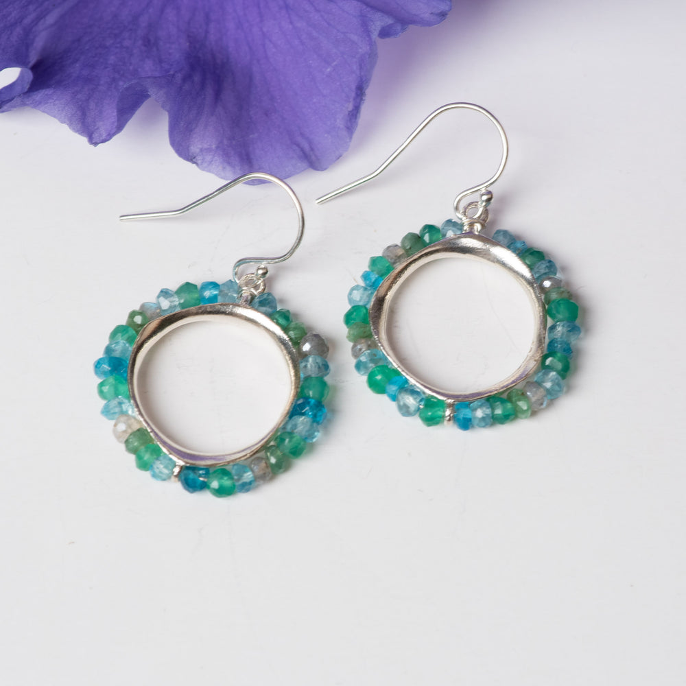 Splash Sterling Pod Earrings