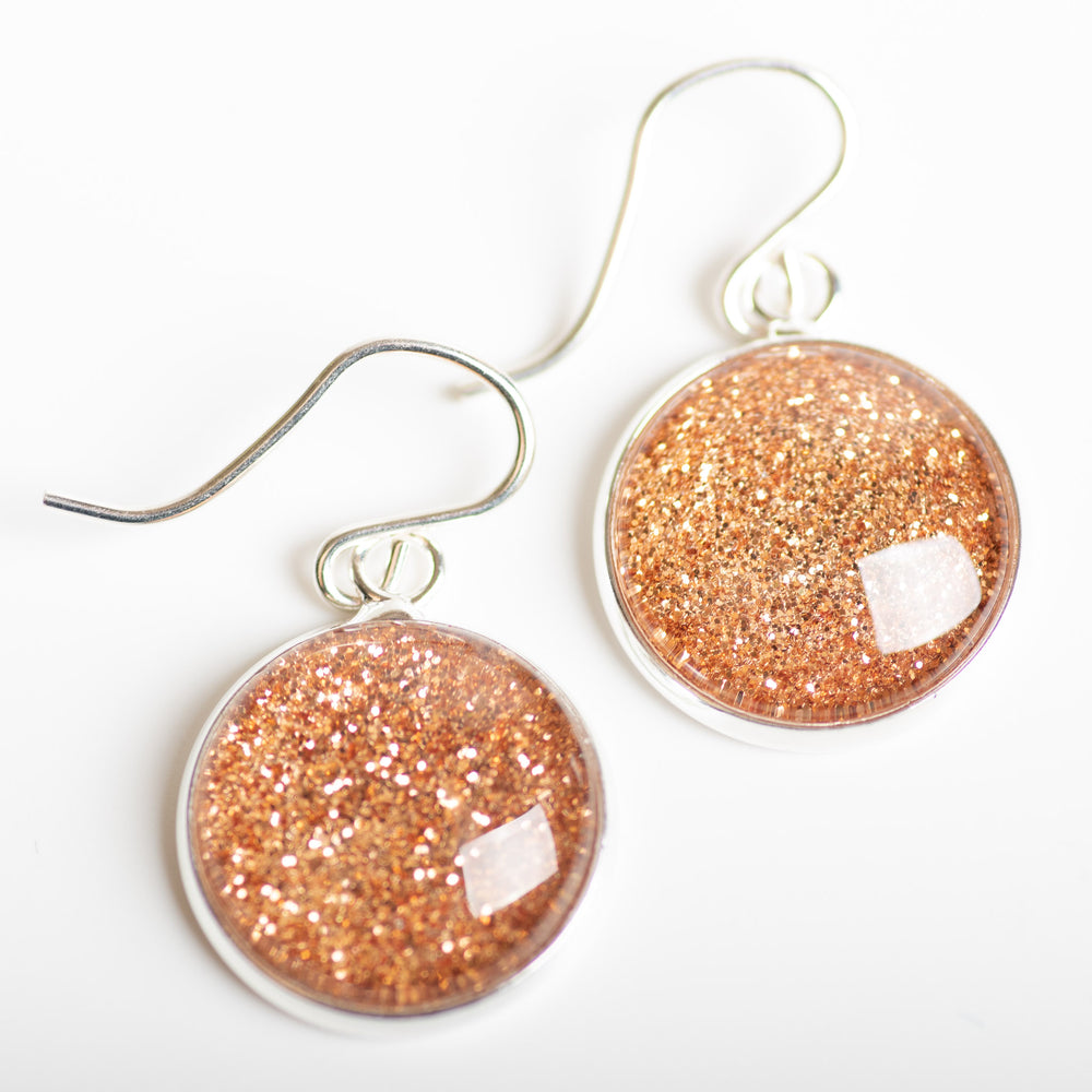 Copper Shimmer Drop Earring