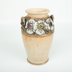 Small Grecian Vase With Flowers On Top