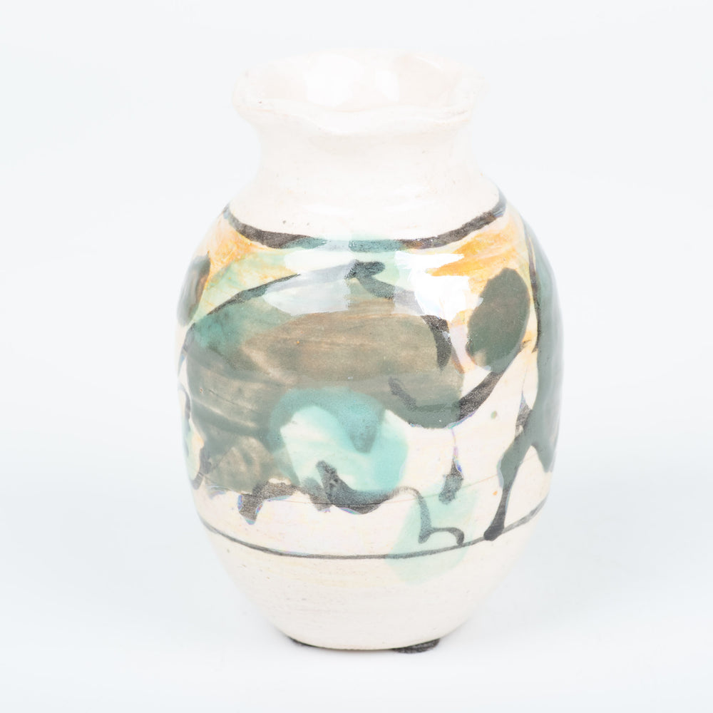 Abstract Green Vase