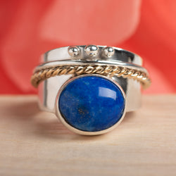 Lapis Spinner Ring Size 7