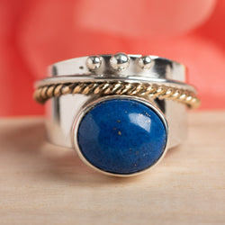 Lapis Spinner Ring Size 8