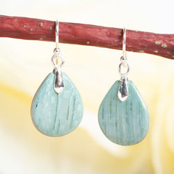 Iced Koto & Harewood Petal Earrings