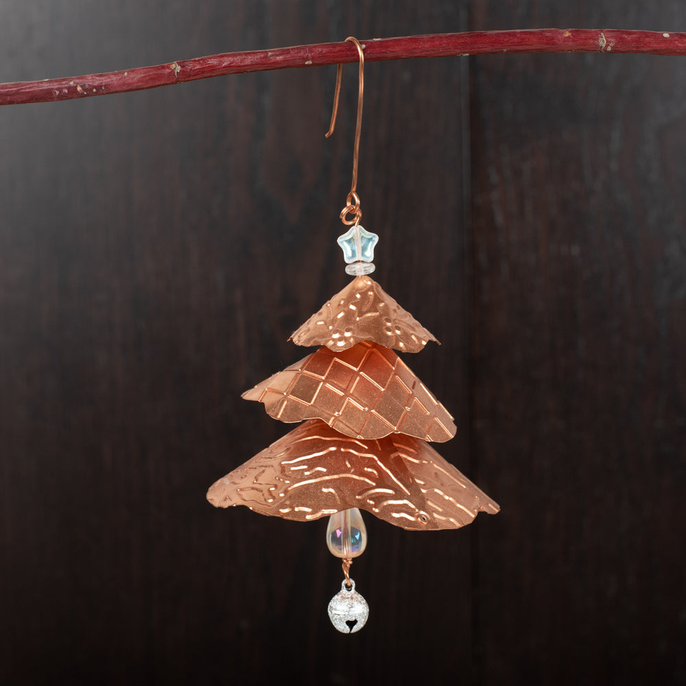 Copper Pine Tree Ornament
