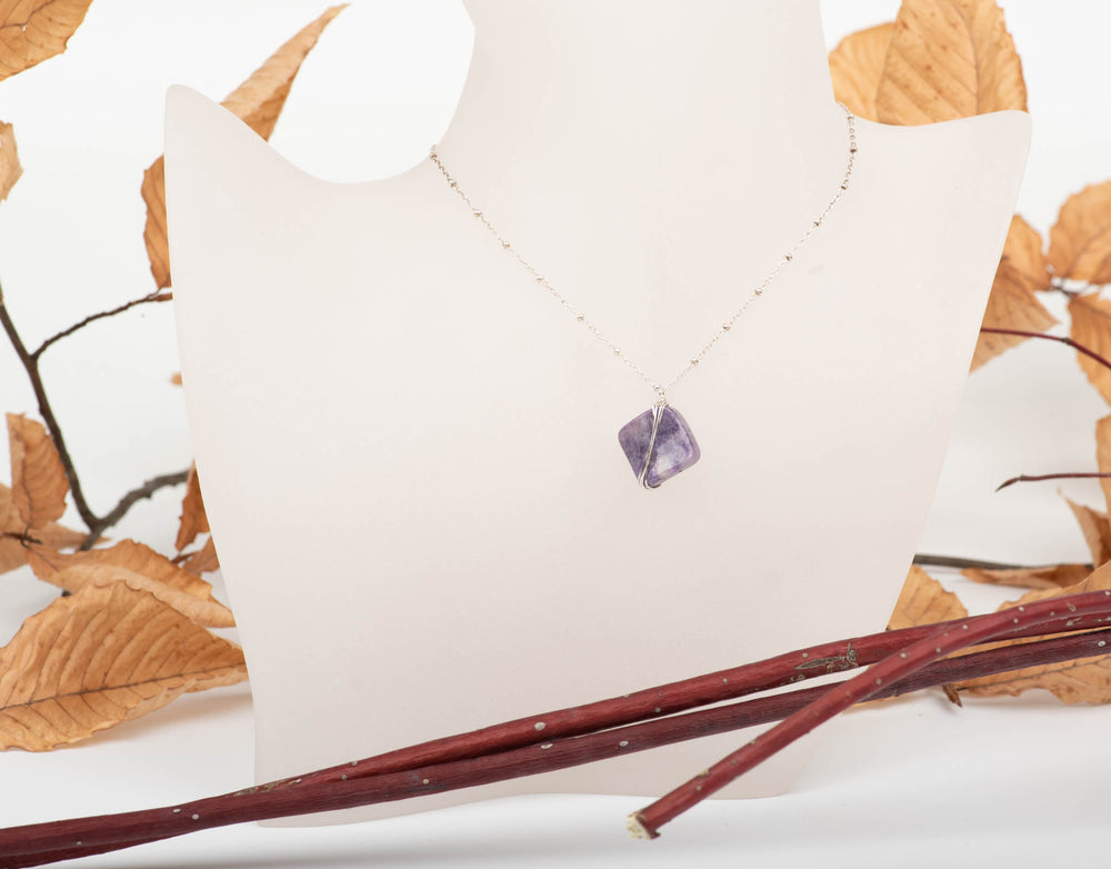 Wrapped Charoite Necklace