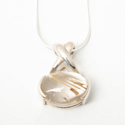 Rhutilated Quartz Crossover Bail Necklace