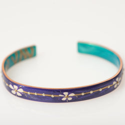Small Purple Flower Cuff
