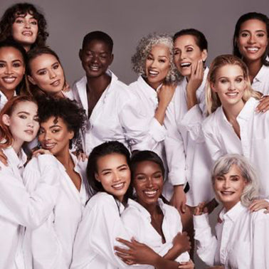 photoshoot of diverse women for international women's day