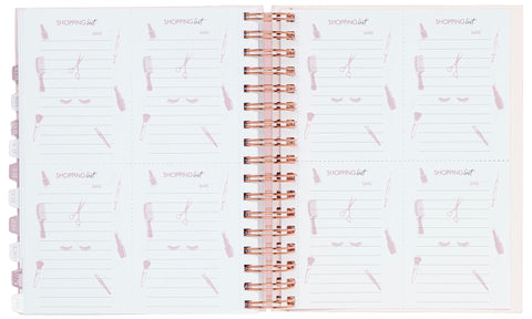shopping list for clients and customers in best selling 2021 appointment book