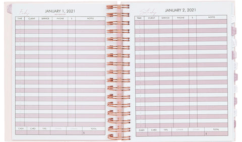undated time slots, untimed slots, 2021 appointment book, best selling