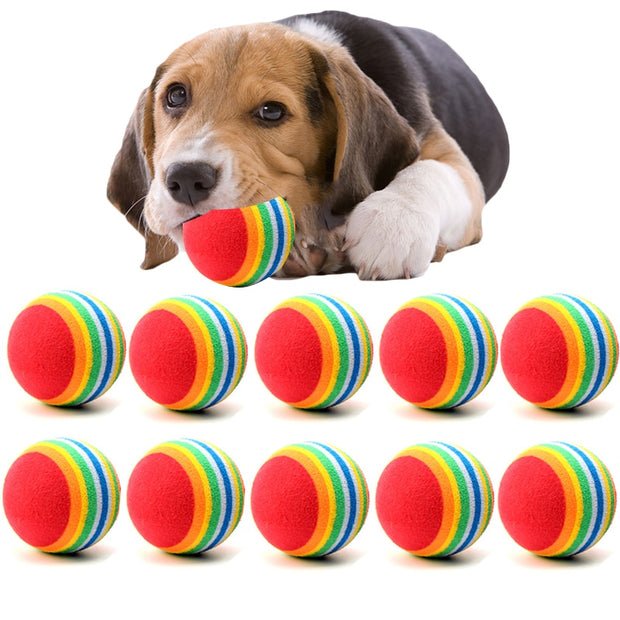 10PC/Lot Mini Small Dog Tennis Ball Chews