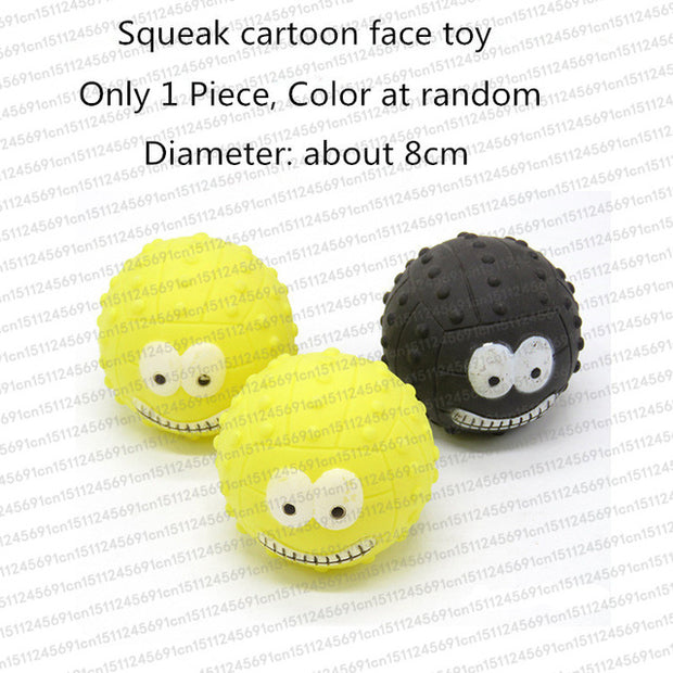 Rubber Squeak Toy for Dog Screaming Chicken Chew Bone Slipper Squeaky Ball Dog Toys Tooth Grinding & Training Pet Toy Supplies