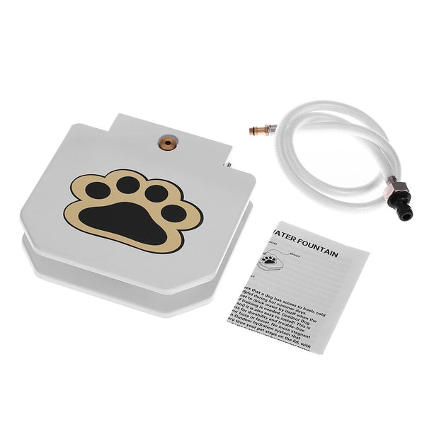 Dog or Cat Outdoor Fresh Water Step-on Drinking Fountain Tool with Hose