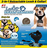 Lucky's Leash 2-in-1 Retractable Leash and Collar