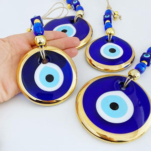 Gold Evil Eye Wall Hanging, Evil Eye Bead, Christmas Tree Decoration Ornament