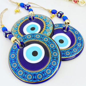 Patterned Evil Eye Wall Hanging, 13cm, Large Evil Eye