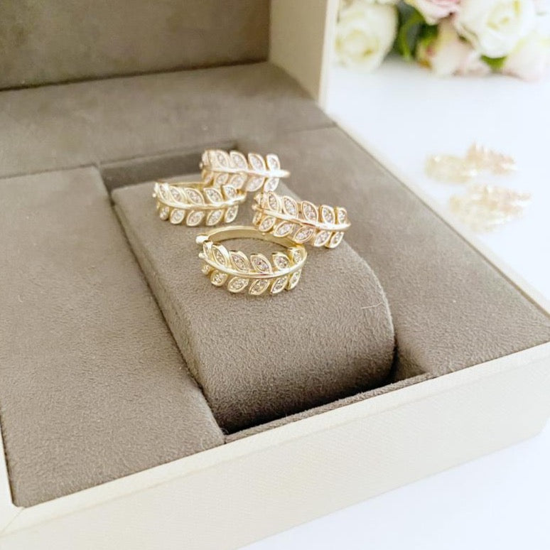 Greek Leaf Ring, Gold Leaf Ring, Adjustable Ring
