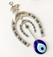 Good luck horseshoe evil eye wall hanging - Evileyefavor