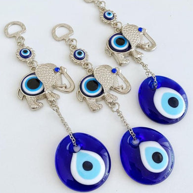 Lucky Evil Eye Wall Hanging, Evil Eye Home Decor, Elephant Wall Hanging