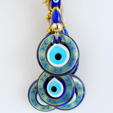 Handmade Evil Eye Wall Hanging, Modern Evil Eye Home Decor