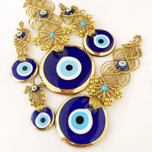 Gold macrame evil eye wall hanging series - Evileyefavor