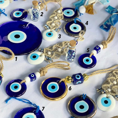 Evil Eye Beads, Evil Eye Wall Hanging SET, Evil Eye Home Decor