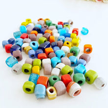 Handmade Murano Glass Beads, Glass Cube Beads, Assorted Glass Beads