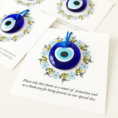 Bulk Greek wedding favors, evil eye with cards - Evileyefavor