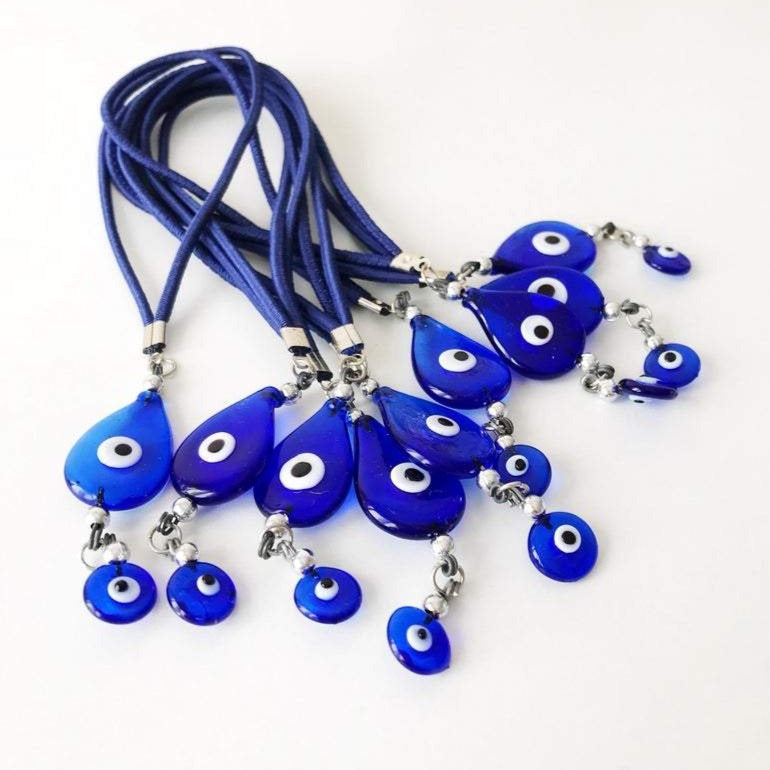 Evil eye rearview mirror decor - Evileyefavor