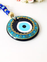 Handmade Evil Eye Wall Hanging, Painted Wall Hanging - Evileyefavor