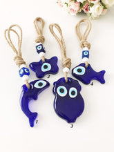Blue Glass Evil Evil Eye Wall Hanging, Animal Wall Hanging - Evileyefavor