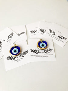 Gold evil eye beads wedding favors - Evileyefavor