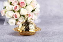 Gold luxury wedding favor box - Evileyefavor