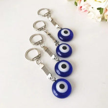 Greek evil eye plain keychain - Evileyefavor