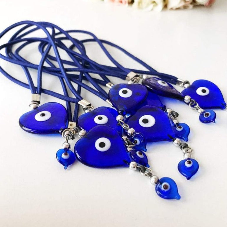 Handmade evil eye car mirror love charm - Evileyefavor