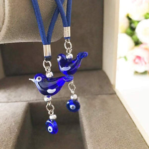 Lucky bird car rear view mirror charm - Evileyefavor