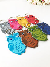 Lucky owl keychain with evil eye protection - Evileyefavor
