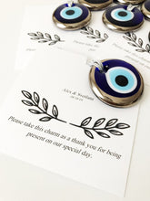 Silver evil eye beads wedding favors - Evileyefavor