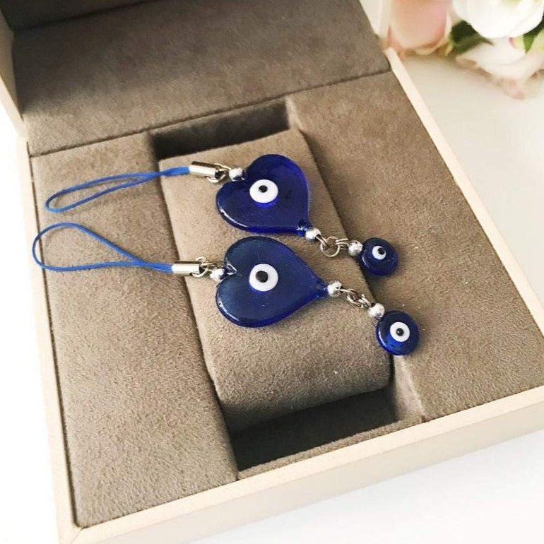 Tiny evil eye car mirror love charm - Evileyefavor