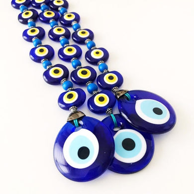 Evil eye wall hanging - 8 beads protection - Evileyefavor