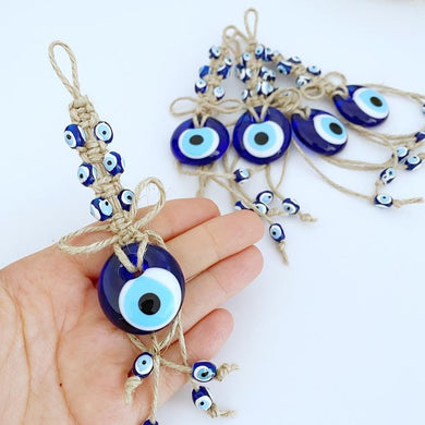 Blue Evil Eye Bead, Tiny Evil Eye Wall Hanging, Car Mirror Charm