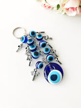 Evil eye protection keychain, evil eye bag charm - Evileyefavor