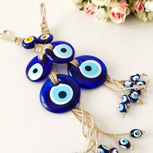Evil eye protection wall hanging with 11 beads - Evileyefavor