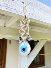 White Evil Eye Wall Hanging, Christmas Tree Decoration, Tree Ornaments