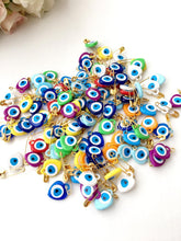 Evil Eye Safety Pin, Wedding Favors, Plastic Bead with Sticker - Evileyefavor