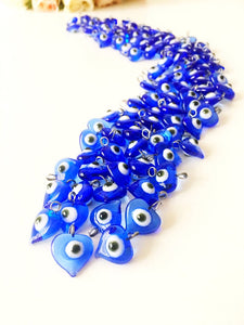 100 pcs unique wedding favors, evil eye charms with hook - Evileyefavor