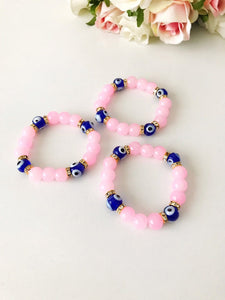 Baby Evil Eye Bracelet, Baby Protection Bracelet, Glass Beads - Evileyefavor